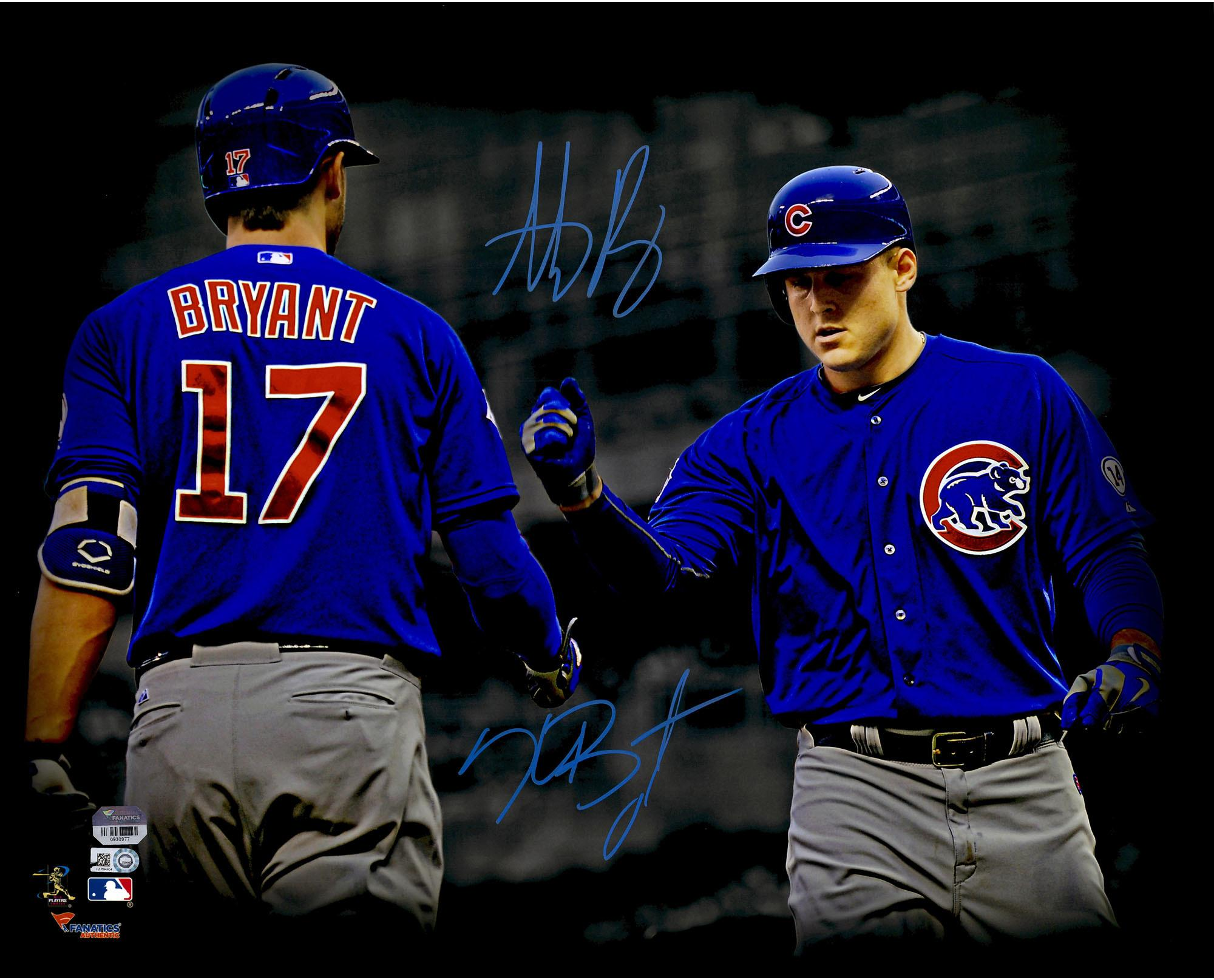 newest 2f3e9 c6d88 Anthony Rizzo and Kris Bryant Chicago Cubs Autographed 16