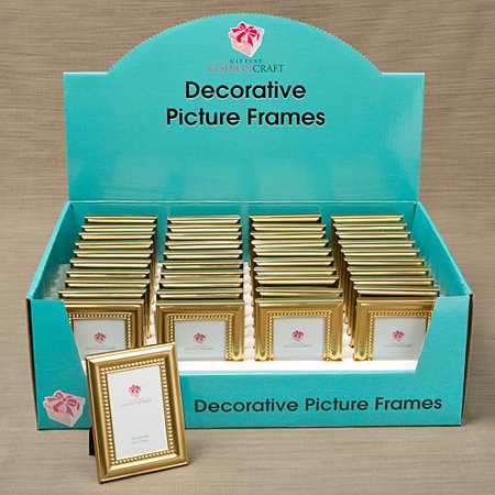 - Decorative Shiny Gold Picture Frame with Beaded Inner border Set of 20