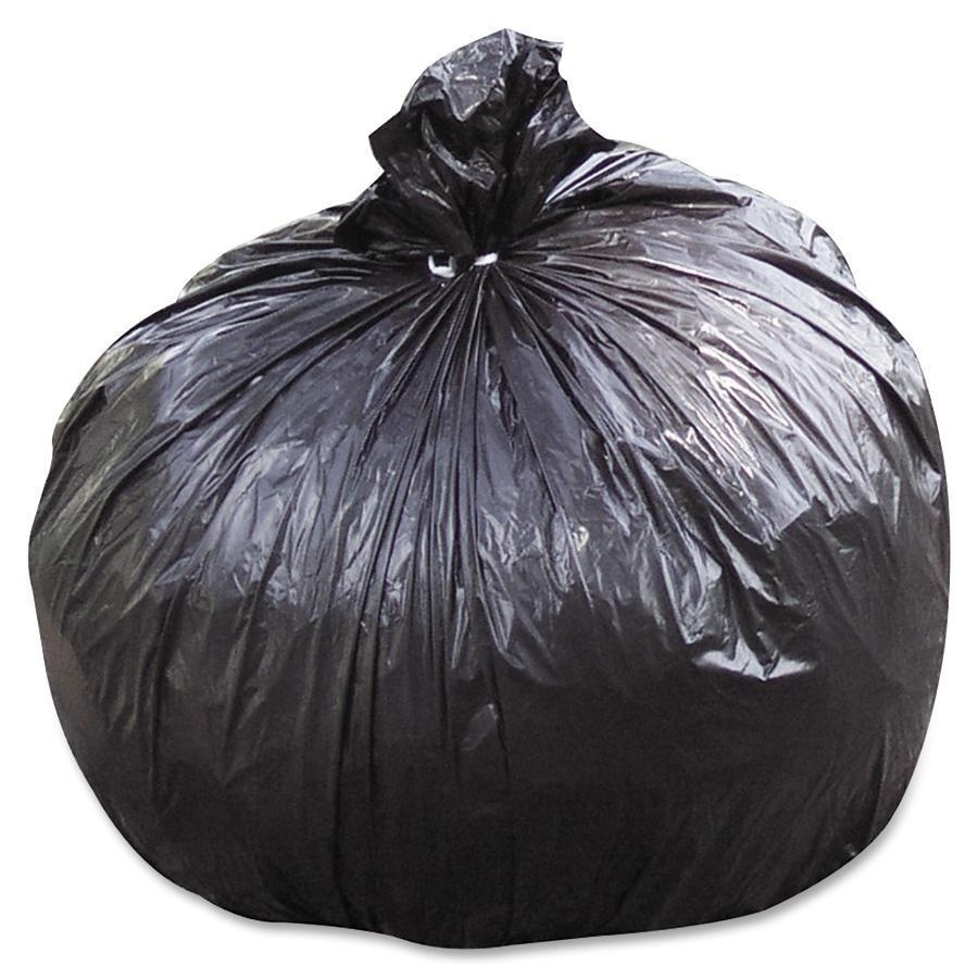 "Skilcraft Trash Bags, 45 gal - 40"" Width x 48"" Length x 1.50 mil (38 Micron) - Black - Polyethylene, Resin - 100/CT"