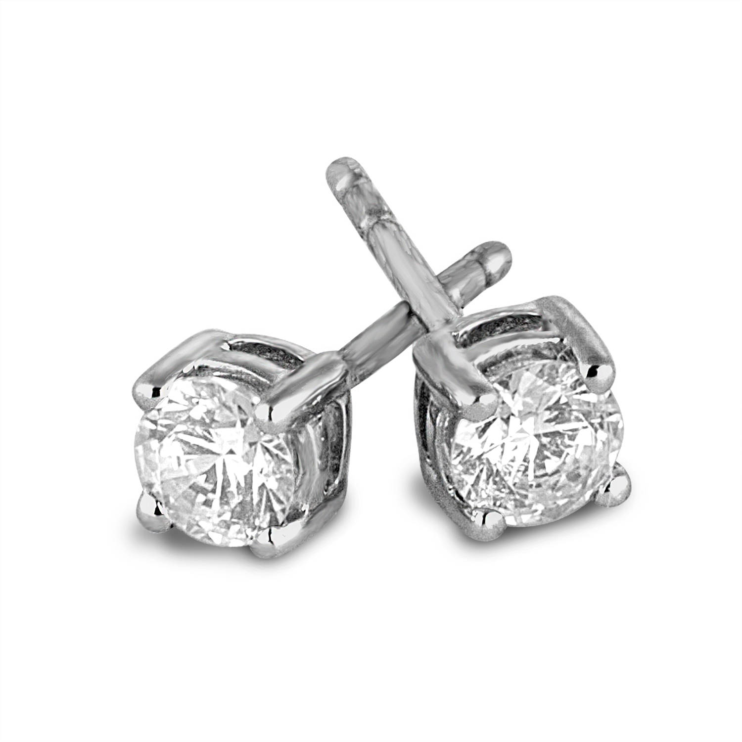 1 2 carat t w diamond 10kt white gold stud earrings
