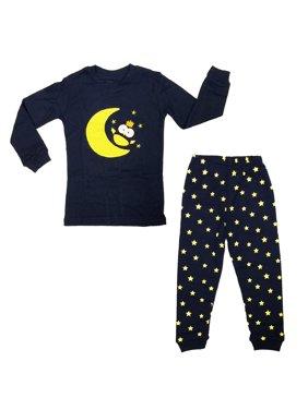 Dabuyu Moon & Owl Children's Pajamas, 6 - 7 Yrs
