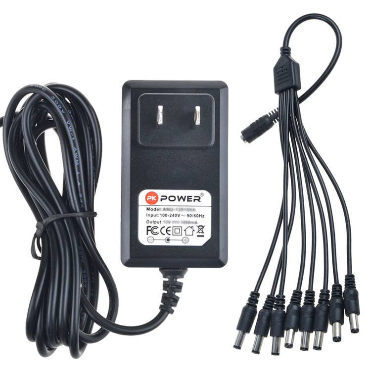 PKPOWER 6.6FT Cable Generic 12V AC Adapter For Aluratek Digital Picture Frame Power Supply Cord PSU