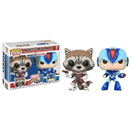 FUNKO POP! GAMES: Marvel Vs Capcom 2-Pack - Rocket Vs Mega Man X