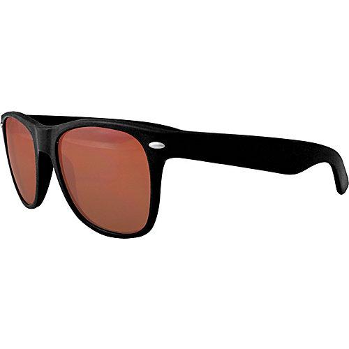 Maxx Sunglasses Retro Black Gloss Frame with Amber HD Lens
