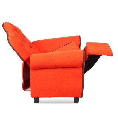 Children Recliner Kids Sofa Chair Couch Living Room Furniture Orange - image 3 de 9