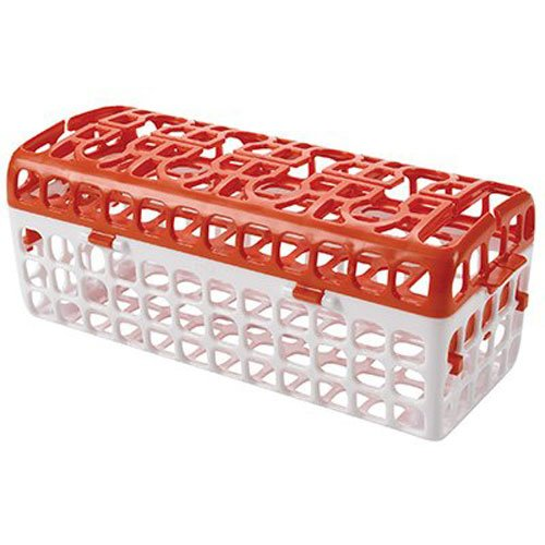 Tot No-Tip Dishwasher Basket for Bottle Parts & Accessories, Holds small parts for baby bottles, sippy cups,... by OXO