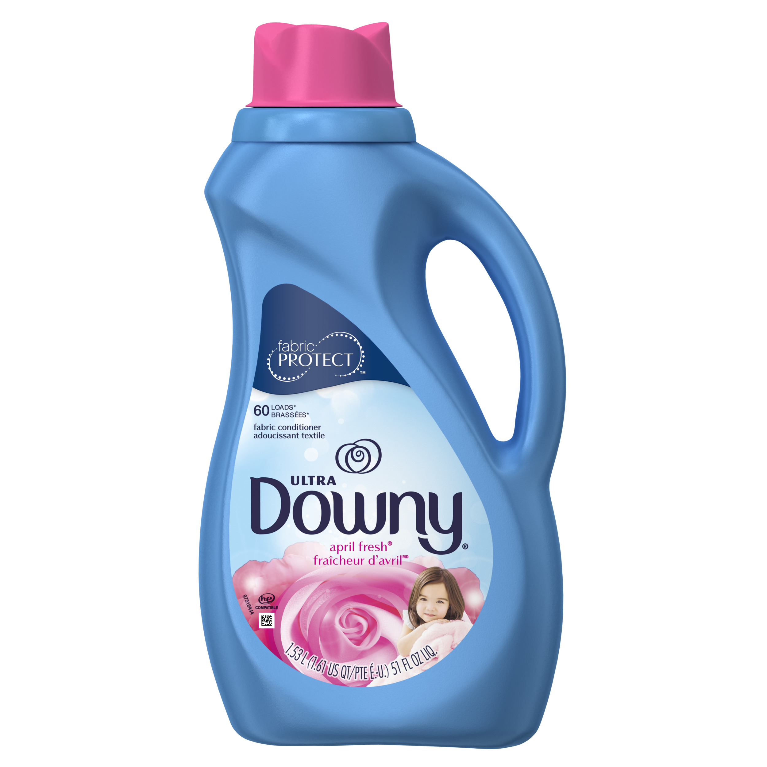 Downy Ultra Liquid Fabric Conditioner, April Fresh, 60 Loads, 51 fl oz