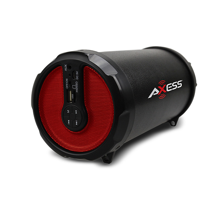 Axess  Rechargeable Bluetooth 3-inch Subwoofer 2.1 Hi-fi Cylinder Speaker