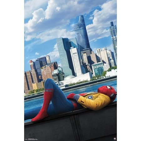 Spider-Man Homecoming - City Laminated Poster Print (22 x - Homecoming Queen Poster Ideas