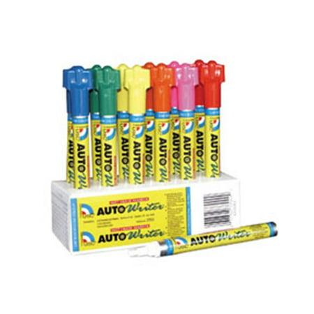 U. S. Chemical and Plastics 37008 Cs - 12 Auto Writer Pens, Red