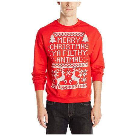 Men's Merry Christmas Filthy Animal Crew Neck Sweatshirt