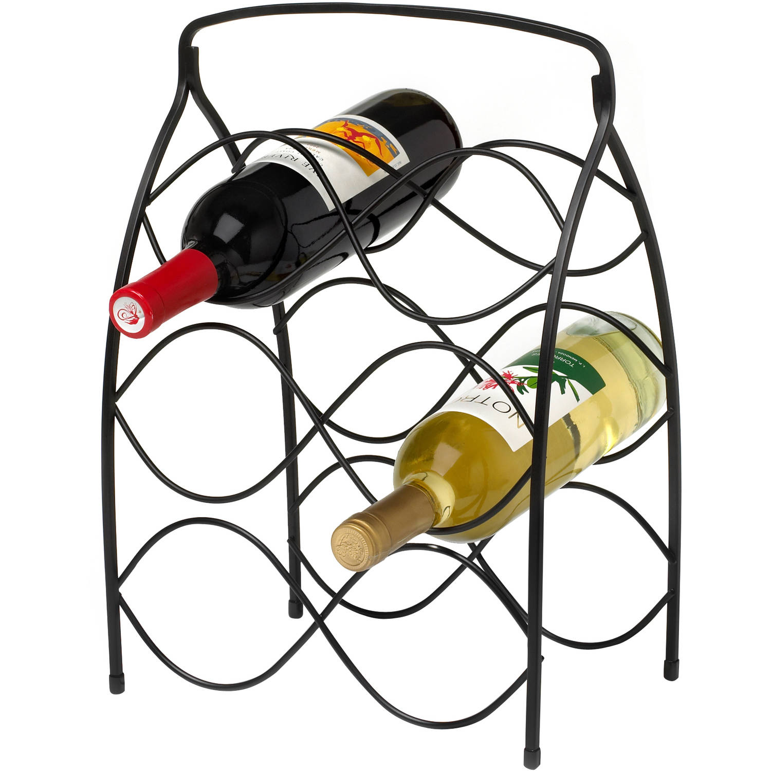 Spectrum Diversified Designs Neko 6-Bottle Wine Rack, Black