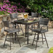 Tutto All-Weather Wicker Bar Height Dining Set - Seats 4