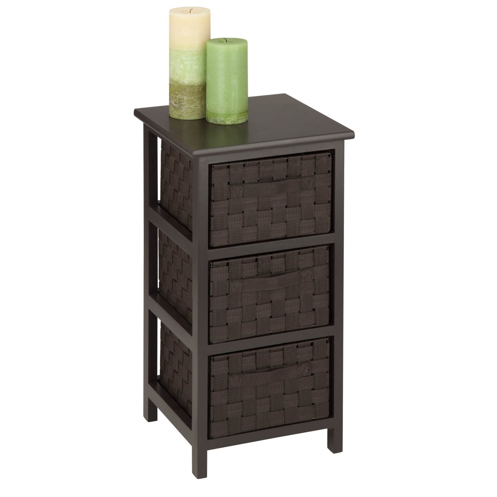 Honey Can Do Storage Chest With 3 Wicker Drawers, Espresso