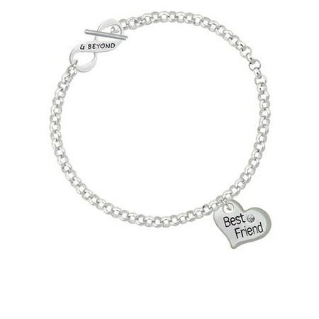 Large ''Best Friend'' Heart & Beyond Infinity Toggle Chain (God's Heart Bracelet)