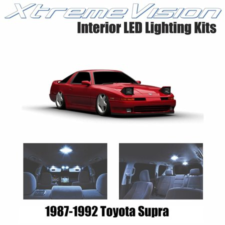 XtremeVision LED for Toyota Supra 1987-1992 (4 Pieces) Cool White Premium Interior LED Kit Package + Installation Tool