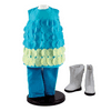Complete Turquoise Legging Doll Clothing Outfit & White Go-Go Boots! Clothes & Accessories for 18 Inch Girl Dolls