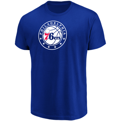 Men's Majestic Royal Philadelphia 76ers Victory Century T-Shirt
