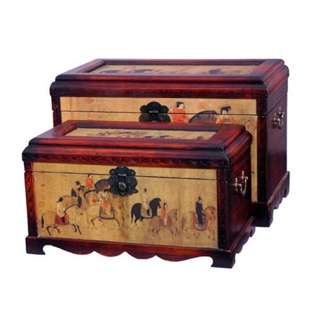 Oriental furniture galloping horses oriental storage trunk for Asian furniture dc