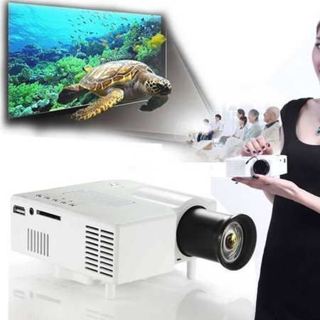Full HD 1080P Home Theater LED Mini Multimedia Projector Cinema USB TV HD MI