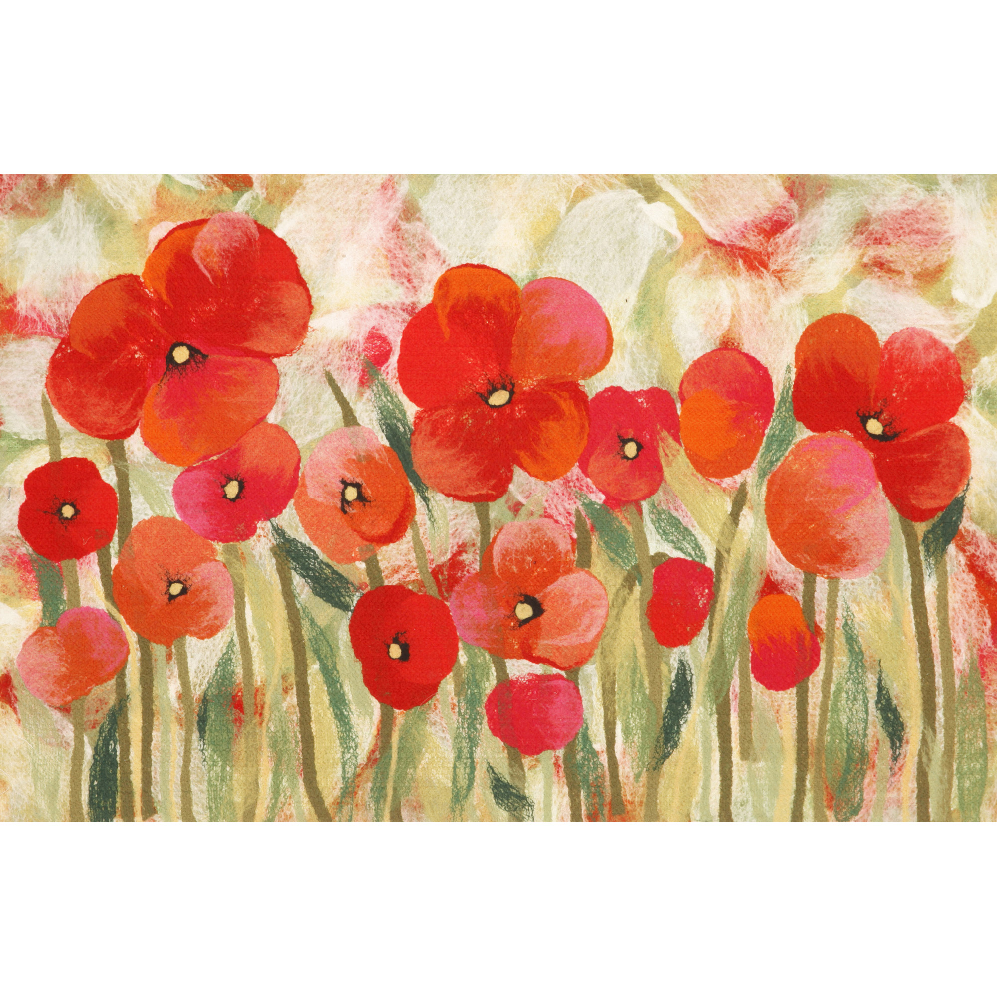 "Liora Manne Visions IV Poppies Indoor/Outdoor Mat Red 20""X29.5"""