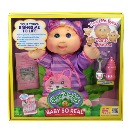 Cabbage Patch Kids 14  Baby So Real Doll  Blonde Girl