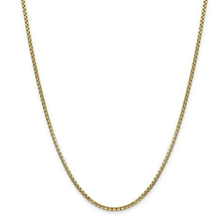 14k 2.45mm Semi-solid Round Box Chain Necklace Pendant Charm Fine Jewelry For Women Gifts For Her - image 9 of 9