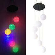 GHP 0.1W Plastic Energy-Saving Color Changing LED Bulb Solar Ball Wind Chime Light