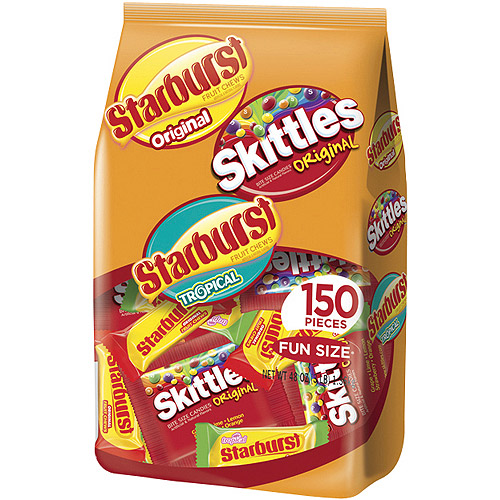 Wrigley Skittles & Starburst Halloween Candy Variety Pack, 48 oz, 150ct