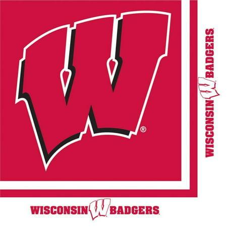 Creative Converting University Of Wisconsin Napkins, 20 ct (University Of Wisconsin Halloween Party)