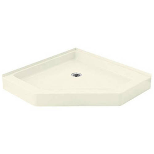 """Sterling Intrigue 39"""" x 39"""" Vikrell Neo-Angle Corner Shower Base, Available in Various Colors"""