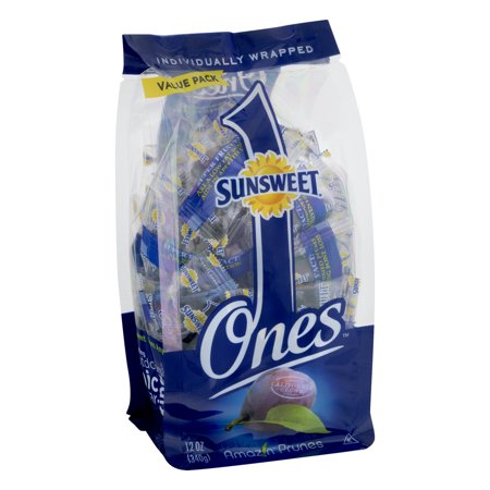 (2 Pack) Sunsweet Ones Dried Prunes Value Pack, 12 Oz, Individually Wrapped
