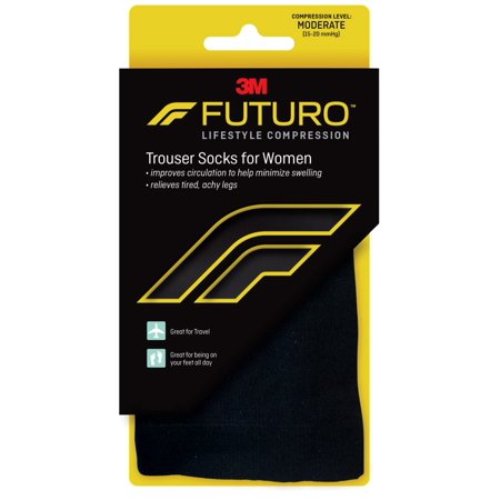 FUTURO™ Trouser Socks for Women Moderate (15-20 mmHg), Large