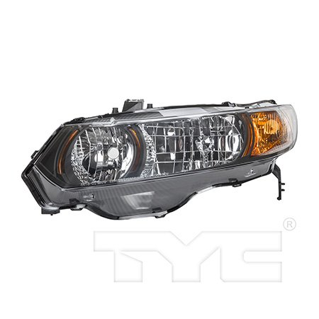 CarLights360: Fits 2006 2007 2008 2009 Honda Civic Headlight Assembly Driver Side (Left) DOT Certified  - Replacement for HO2502133 (Vehicle Trim: (2007 Honda Civic Si Clutch Replacement Cost)