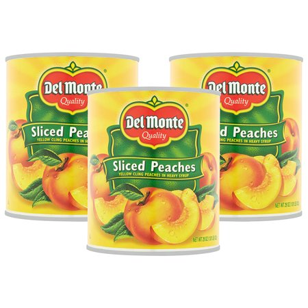 (3 Pack) Del Monte Sliced Peaches, 20.0 OZ