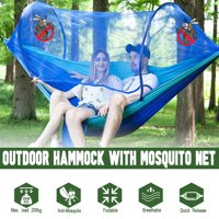 Sleeping Hanging Hammock Bed With Mosquito Net, Portable Camping Outdoor Double Person Tent, Including Hooks,Rope,Storage Bag For Summer Hiking Travel