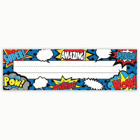 (5 Pk) Superhero Flat Name Plates
