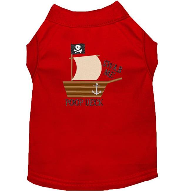 Poop Deck Embroidered Dog Shirt Red Xl (16) - image 1 de 1
