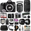 """Canon EOS 70D DSLR SLR Digital Camera + 18-55mm STM + 75-300mm USM Lens + 128GB Memory + 2 Batteries + Charger + LED Video Light + Backpack + Case + Filters + Auxiliary Lenses + More The Canon EOS 70D DSLR Camera features a 20.2 megapixel APS-C CMOS sensor and DIGIC 5+ image processor to ensure high-resolution images and excellent low-light sensitivity. Both the sensor and processor work together to produce well-detailed, clear imagery that exhibits natural tonality and color gradations with minimal noise when working in difficult lighting conditions.<br><br><b>What's in the box:</b><br><br>Canon EOS 70D DSLR Camera with 18-55mm f/3.5-5.6 STM Lens<br>EF-S 18-55mm f/3.5-5.6 IS STM Lens<br>LP-E6 Rechargeable Lithium-Ion Battery Pack (7.2V, 1800mAh)<br>LC-E6 Charger for LP-E6 Battery Pack<br>IFC-400PCU USB Interface Cable<br>RF-3 Camera Cover<br>Eyecup Eb<br>Wide Strap EW-EOS 70D<br>EOS Digital Solution Disk CD-ROM<br>Limited 1-Year Warranty<br><br><b>47th Street Photo Accessories:</b><br><br>Canon EF 75-300mm f/4-5.6 III USM Lens<br>64GB High Speed Class 10 Memory Card (2)<br>High Capacity Replacement Li-ion Battery Pack (2)<br>Dual AC/DC Battery Charger with Car Plug<br>Opteka 67"""" MP100 Aluminum Monopod<br>Deluxe Digital Camera Padded Carrying Case (Large)<br>Opteka X-GRIP Professional Action Stabilizing Handle<br>Opteka 2.2x High Definition II Telephoto Lens<br>Opteka 0.43x High Definition II Wide Angle Lens<br>UV Ultra Violet Filter<br>Professional 3 Piece Filter Kit (UV-CPL-FLD)<br>Opteka VL5 LED Video Light<br>Professional Sling SLR Backpack<br>High Speed SD/SDHC/Micro SD Reader/Writer<br>Flower Tulip Lens Hood<br>Opteka Neoprene Padded Dual Grip/Wrist Strap<br>Lens Cleaning Pen<br>Small Mini Tabletop Tripod<br>Lens Cleaning Kit<br>$50 Promo Code for Digital Photo Prints<br>47th Street Cleaning Cloth<br>"""