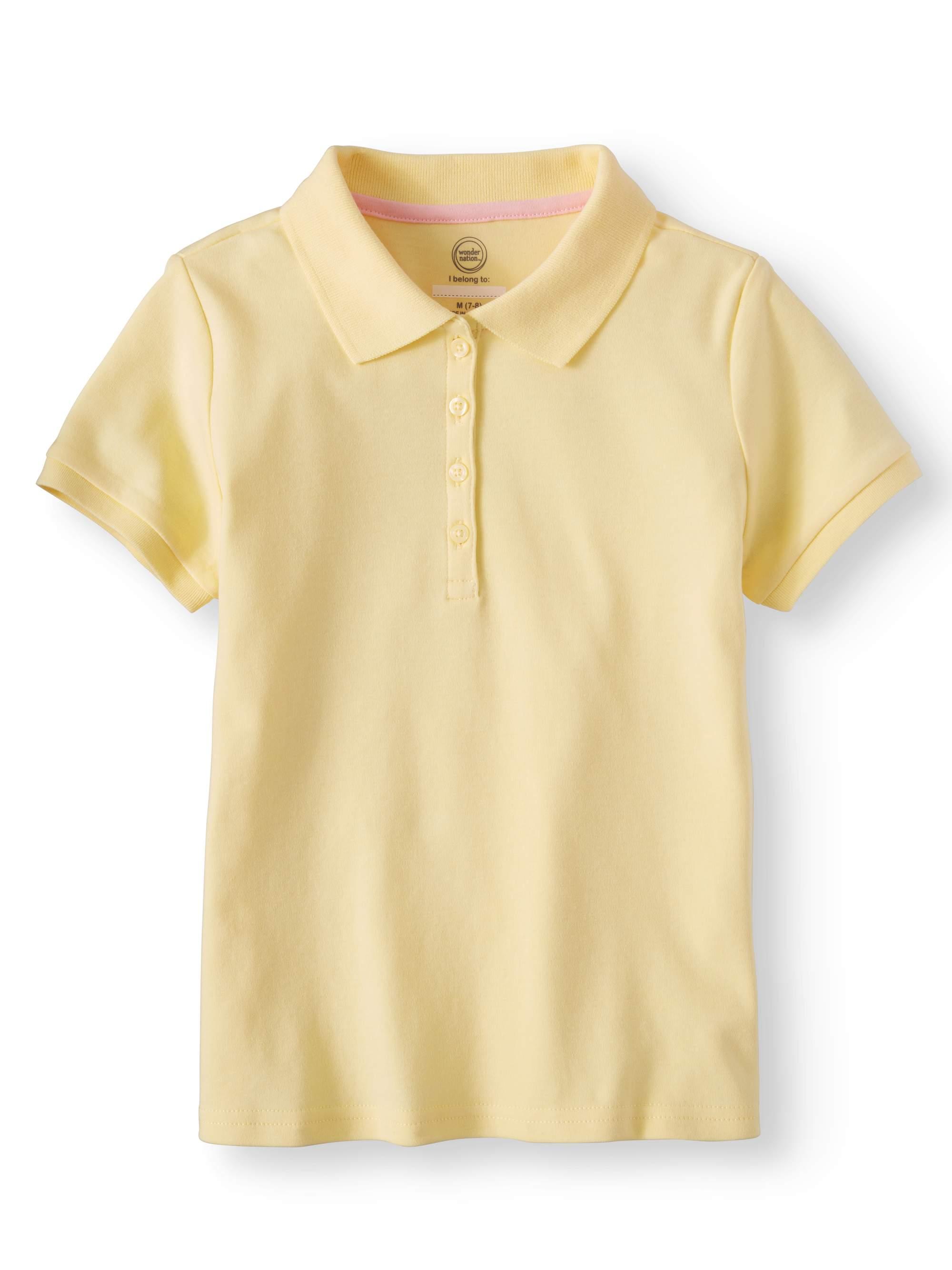 Girls School Uniform Short Sleeve Interlock Polo