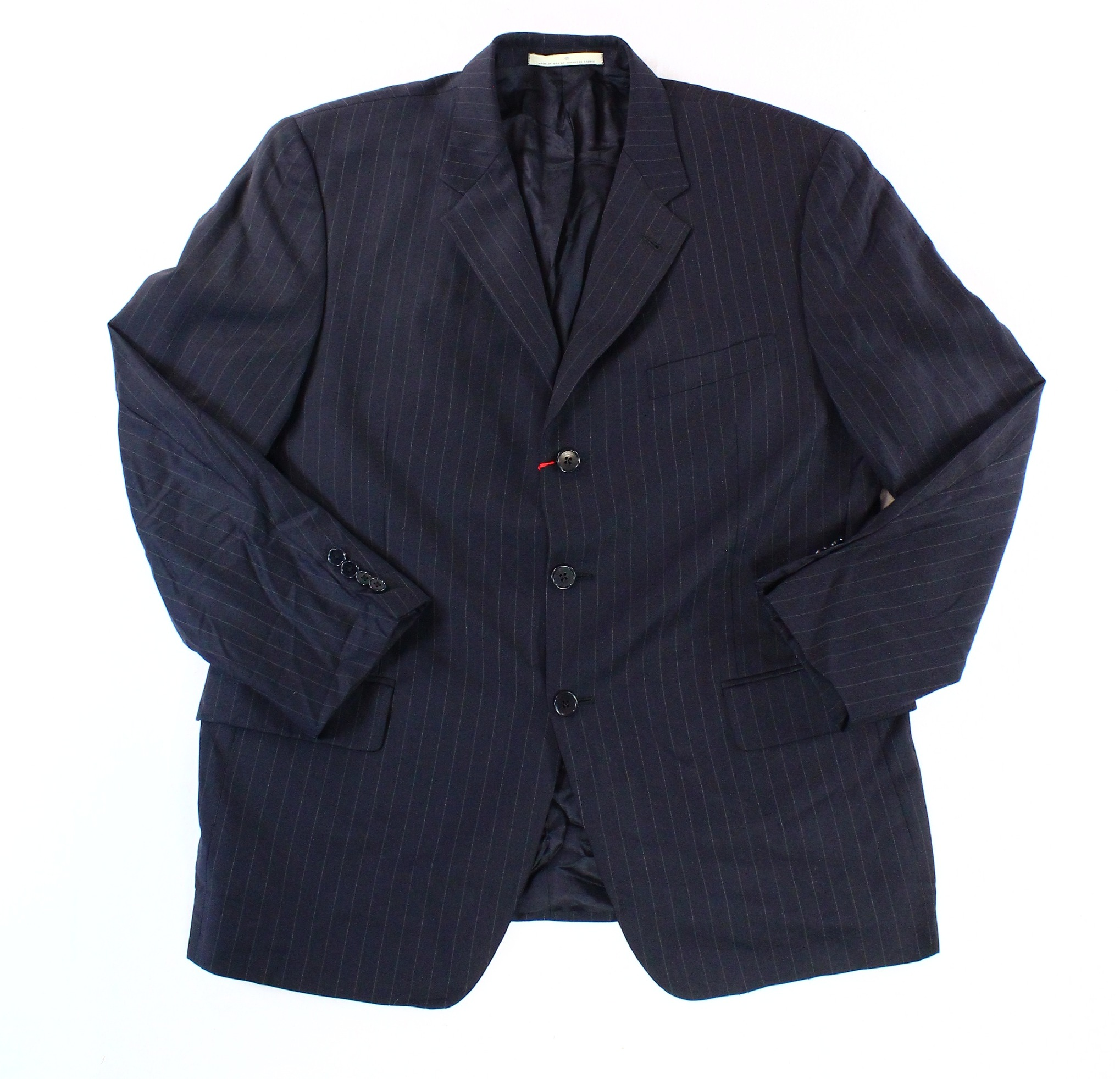 Joseph Abboud NEW Blue Mens Size 42 Stripe Three Button Wool Blazer