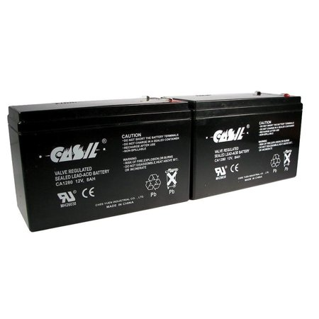 2  Casil 12V 8Ah For Scooter Battery Replaces Energy Power Ep Sla12 8