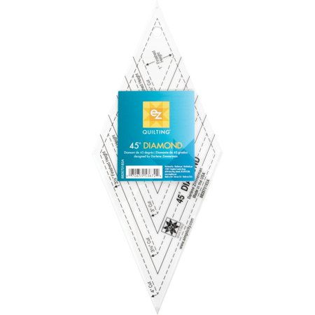 - EZ Quilting 45 degree Diamond Template Tool, Diamond acrylic 45-degree tools specially designed to aid in rotary cutting By Wright Products Ship from US