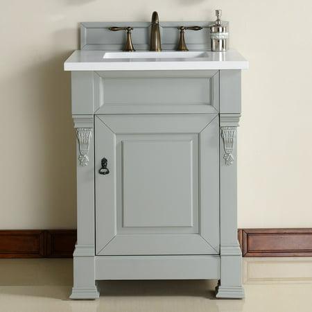 James Martin Brookfield 26 in. Single Bathroom Vanity American Fluorescent White Vanity