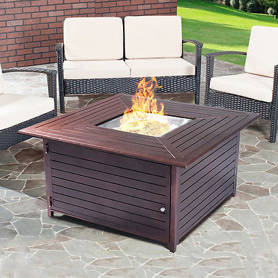 TheBest 40000BTU Aluminum Propane Gas Outdoor Firepit Table Stove Furniture W Lid New [Istilo273675] by