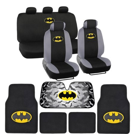 Batman Seat Cover, Carpet Floor Mat and ull Interior Protection Auto Accessories