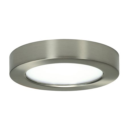 "10.5 watt; 5.5"" Flush Mount LED Fixture; 2700K; Round Shape; Brushed Nickel Finish; 120 volts"