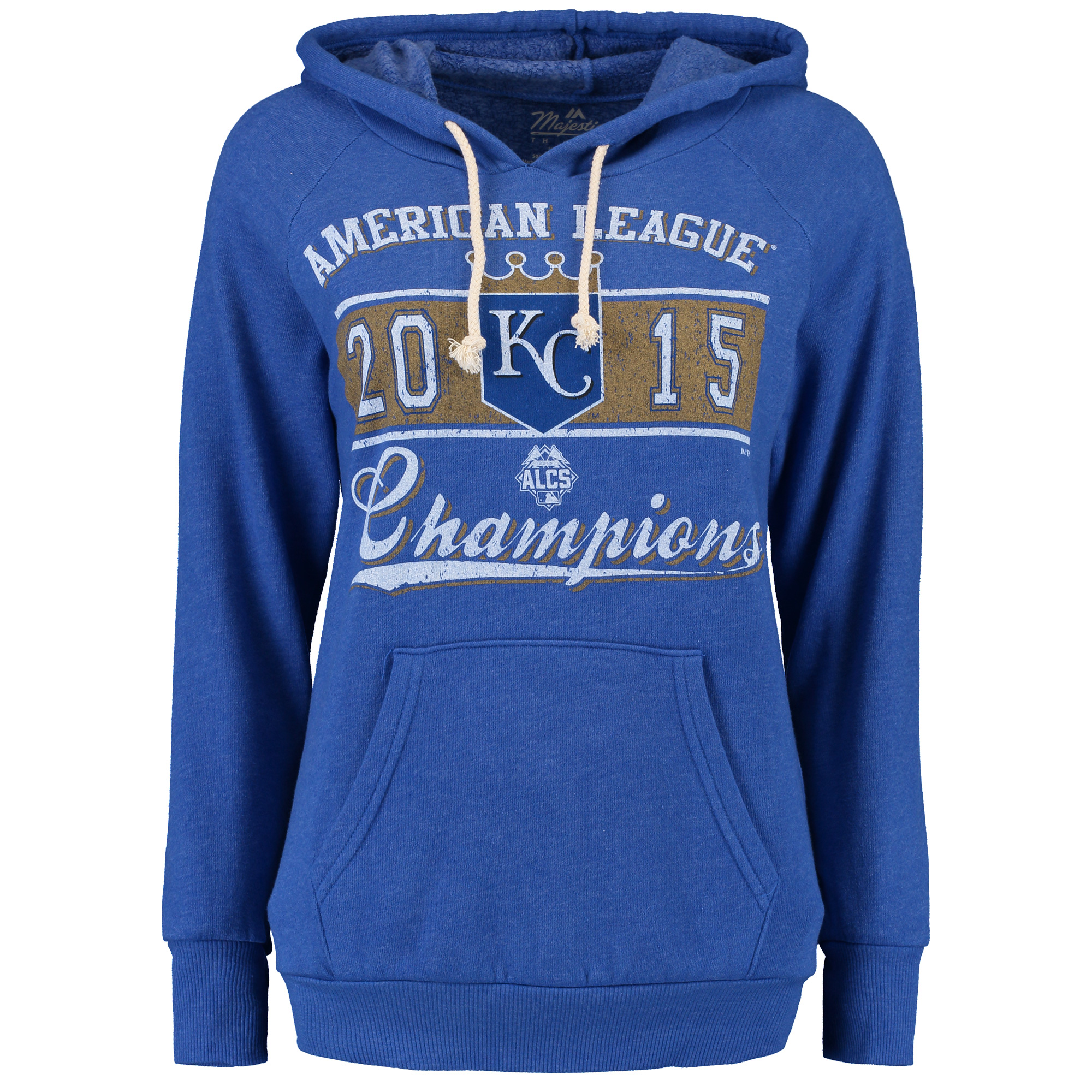 Kansas City Royals Majestic Women's Bow Down To The Crown Hoodie - Blue