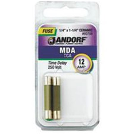 Jandorf Specialty Hardw Fuse Mda 12A Time Delay 60706 - image 1 of 1