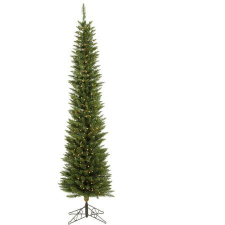 Vickerman Pre-Lit 5.5' Durham Pole Pine Artificial Christmas Tree, Dura-Lit, Clear Lights